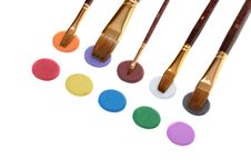 Free Paintbrush And Paint Royalty Free Stock Image - 6740606