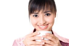 Free Asian Woman Have A Coffee Break Stock Photography - 6740992
