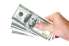 Money In Hands Royalty Free Stock Photography