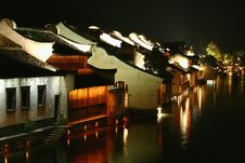 Peaceful Night Of Wu Town Royalty Free Stock Images