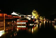 Peaceful Night Of Wu Town Stock Photos