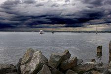 Free Harbor Under Threatening Skies Royalty Free Stock Images - 6741999