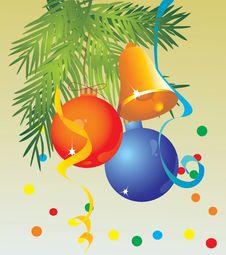 Free Bright Celebratory Ornaments On A Fur-tree Stock Image - 6742241