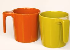 Free Two Drinking Cups. Royalty Free Stock Images - 6742429