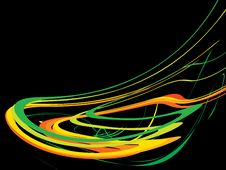 Free Wave From Colour Strips On A Black Backround 1 Stock Photos - 6742523