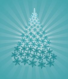 Free Fantastic Tur-tree In Crystal Snowflakes Royalty Free Stock Photo - 6742535