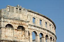 Pula Amphitheater Stock Image