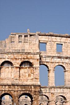 Pula Amphitheater Stock Photo