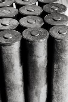 Free Old Cartridges For Shotgun Royalty Free Stock Photo - 6744095