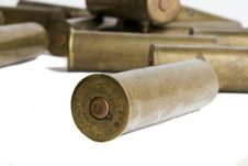 Free Old Cartridges For Shotgun Royalty Free Stock Photos - 6744108