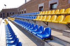 Free Colorful Plastic Seats Royalty Free Stock Image - 6744346
