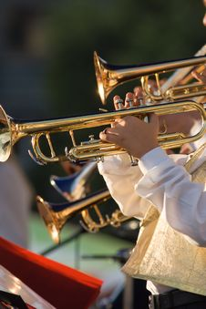 Free Musicians Are Playing On Trombones Royalty Free Stock Image - 6744486