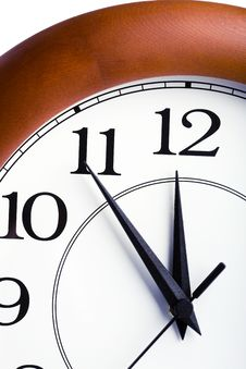 Round Clock Showing Time About Twelve Stock Photos
