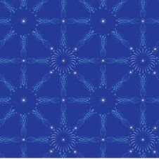 New Year Firework Dark Blue Seamless Royalty Free Stock Images