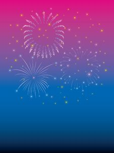 Free New Year Firework Violet Stock Photography - 6744832