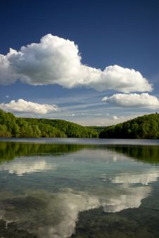 Free Clear Mountain Lake In Green Forest Of Park Royalty Free Stock Photo - 6745015