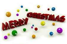 Free Merry Christmas Text Stock Photo - 6745440