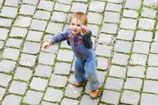 Free Boy On Stone Road Stock Images - 6745974