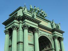 Free Narvskije Gate. Triumphal Arch Royalty Free Stock Image - 6746516