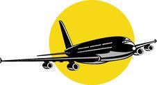 Jumbo Jet Airplane Stock Image