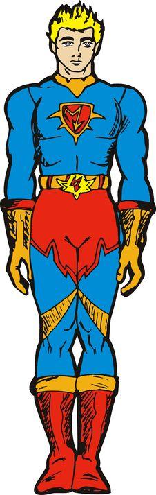 Free Superhero Standing Royalty Free Stock Image - 6747246