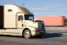 Free Truck At A Speed Royalty Free Stock Image - 6747286