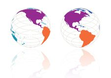 Free USA Globe - Vector Royalty Free Stock Photos - 6748238