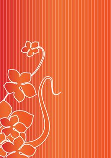 Free Floral Line Background -vector Royalty Free Stock Photography - 6748247