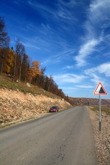 Free Autumn Landscape With Road Royalty Free Stock Photo - 6748525
