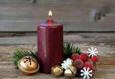 Christmas Candle Royalty Free Stock Image