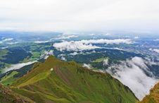 The Aerial View From The Top Of Pilatus Royalty Free Stock Photos