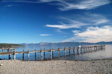 Free Pier At Lake Tahoe Royalty Free Stock Photos - 6748998