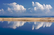 Free Tropical Shoreline With Clouds Stock Photography - 6749882