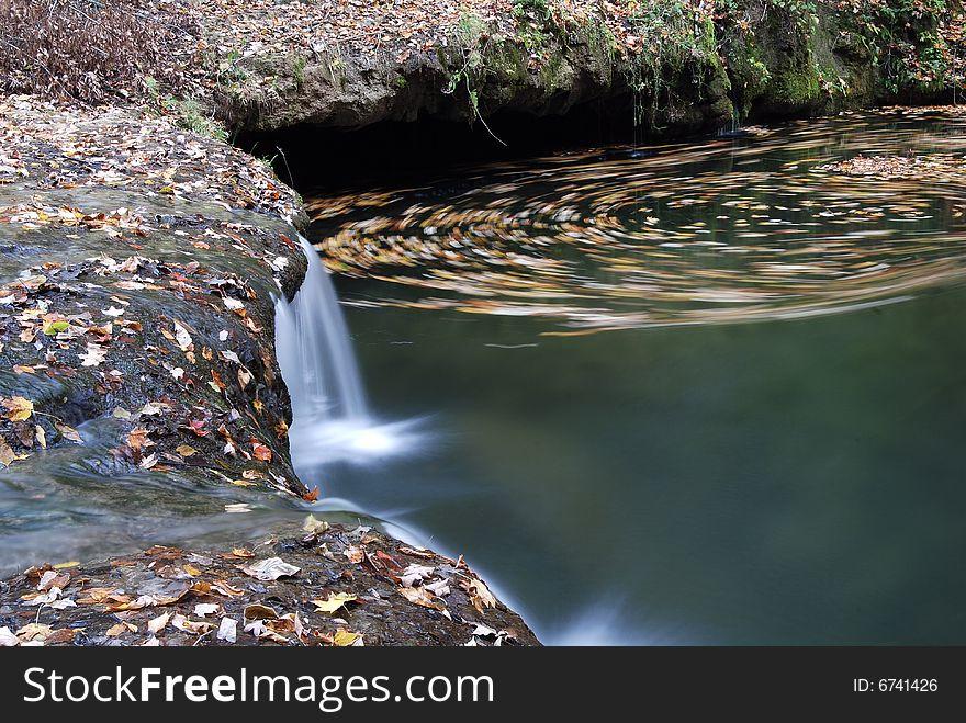 Vortex near a Water fall