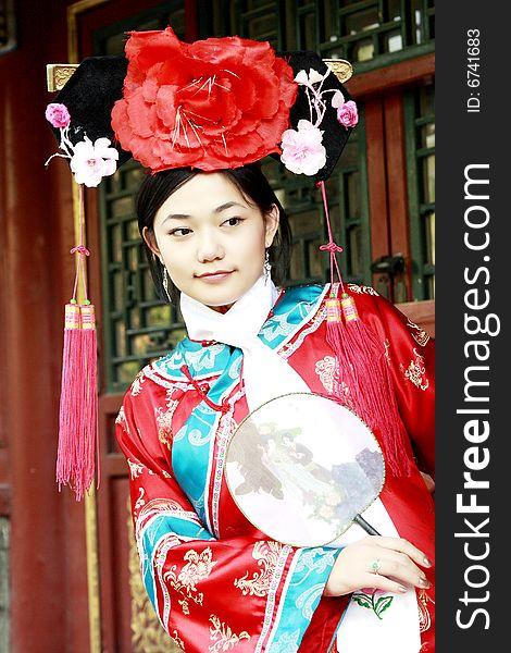 Retro beauty in China.
