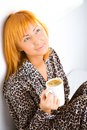 Free Woman With Coffee Stock Photos - 6756743
