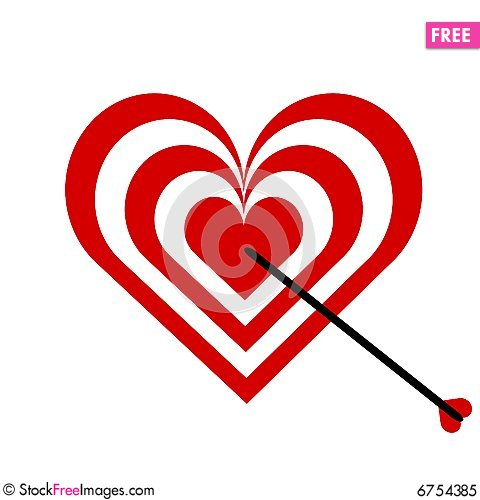 Free Target Heart Royalty Free Stock Photo - 6754385