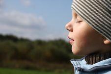 Free Young Boy Enjoying Sun In Autumn Stock Photos - 6750083