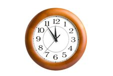 Round Clock Showing Time About Twelve Royalty Free Stock Photos