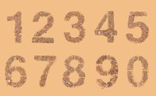 Stones And Sands Numerals Stock Image