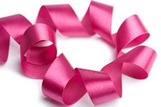 Free Beautiful Pink Ribbon Isolated Stock Images - 6750614