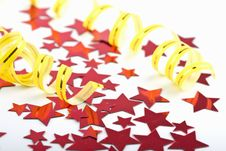 Free Holiday Background Of Stars And Streamer Stock Photos - 6750713