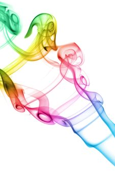 Free Colorful Smoke Isolated Royalty Free Stock Photos - 6750738