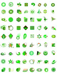 Set Of 72 Icons Stock Images