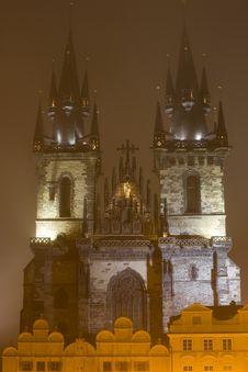 Free Night Prague Fog Royalty Free Stock Photos - 6751148