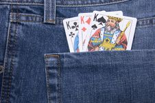 Free Cards In Pocket Stock Photography - 6751502