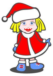 Free Christmas Girl Royalty Free Stock Photos - 6752798