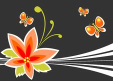Free Flower And Butterflies Royalty Free Stock Photos - 6752838