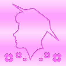 Free Head Outline, Silhouette, Woman, Pink Background Stock Photo - 6752870