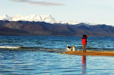 Namtso Lake In Tibet Royalty Free Stock Image
